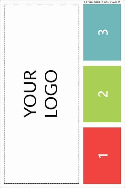 Single photo card (3 poses - asymmetrical)
