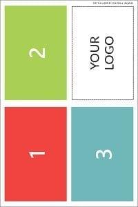 Single photo card (3 poses - symmetrical)