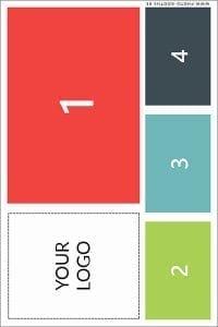 Single photo card (4 poses - asymmetrical)
