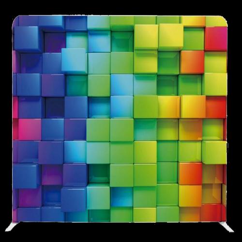 3d rainbow squares